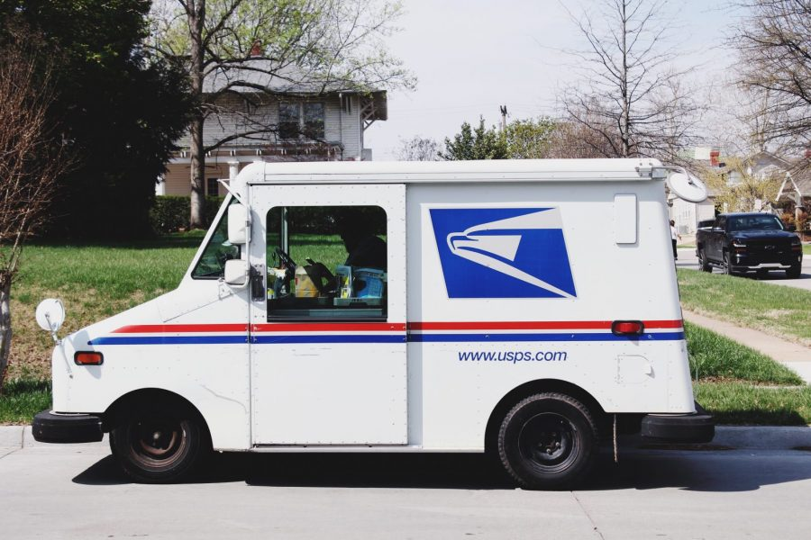 USPS Delivering Residential Package